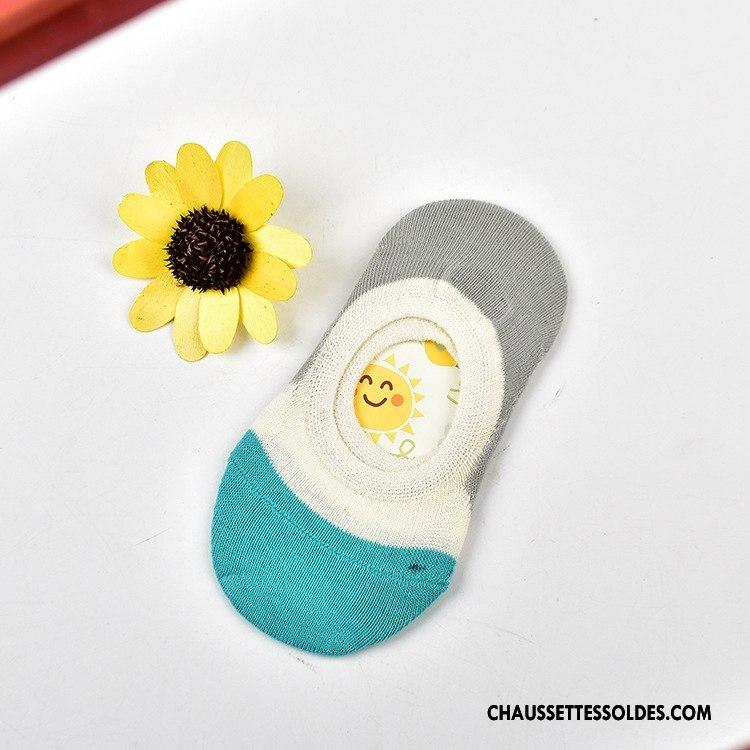 Chaussette Basse Femme Mode Tous Les Assortis Chaussette Basse Coupée Le Nouveau Enfant Charmant Coloré