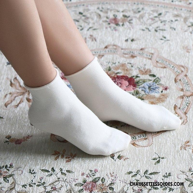 Chaussettes Mi Hautes Femme Matelassé Enceintes Casual Couleur Bouche Libre Adulte Blanc