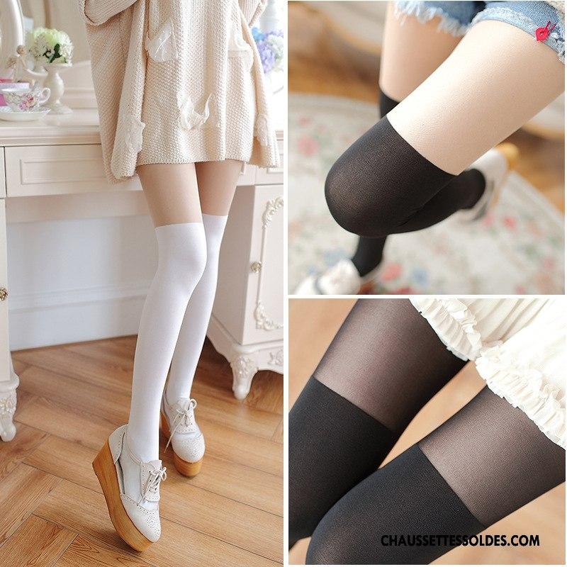 8963a9fb269 Chaussettes Longues Femme Collant Panty Leggings Haute Chaussette De Noël  Gros Épissure Blanc Soldes Pas Cher